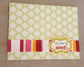 So F***king Sweet Handmade Baby Card