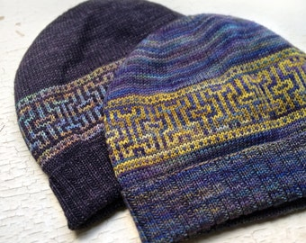 PDF Knitting Pattern - Artifact Hat