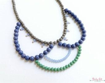 Colorful statement necklace, bohemian, boho chic, boho style, eccentric jewelry