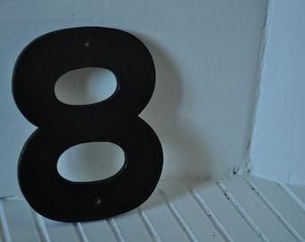 """Vintage sign number """"8"""""""