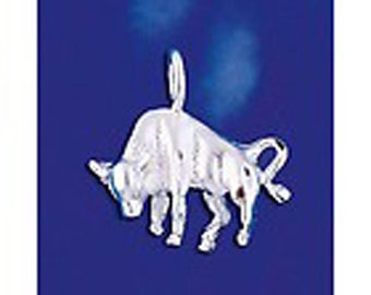 Bull Charm - Sterling SIlver - Reduced