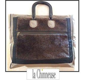 VINTAGE bag / TOTE Bag / weekend large bag / Weekender bag /Handemade / Made in France.