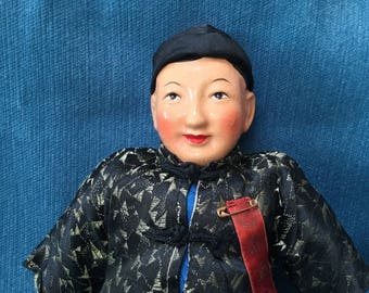 Vintage Chinese Groom Doll - 50s/ 60s