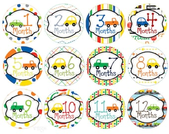 Baby Month Stickers Monthly Stickers Milestone Stickers Month Stickers Monthly Baby Stickers Baby Shower Gift