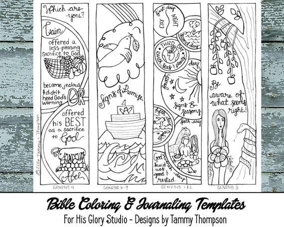 Genesis Chapters 19 16 bible journaling