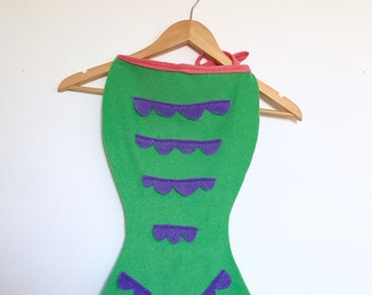 Green Mermaid Tail, Halloween Costume or Dress Up Tail