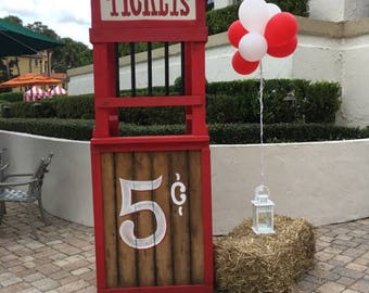 Carnival Ticket Booth Prop