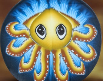 Large Squid Polymer Clay Cane- 'Deep Blue Sea' series (30A)