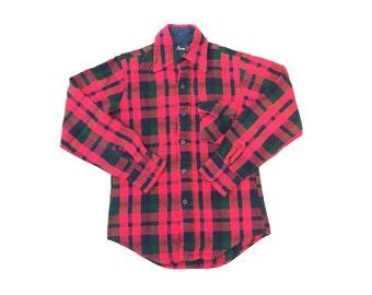Vintage Red Plaid Flannel