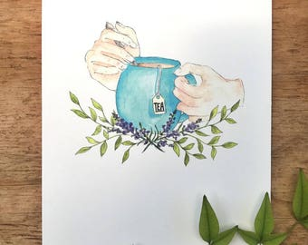 Cup of tea and Me - Print