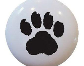 Paw Puppy Dog Ceramic Knobs Pulls Kitchen Bathroom Closet Drawer Cabinet