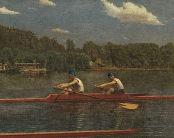 The Biglin Brothers Racing (Artist: Thomas Eakins) c. 1872 - Masterpiece Classic (Art Print - Multiple Sizes Available)
