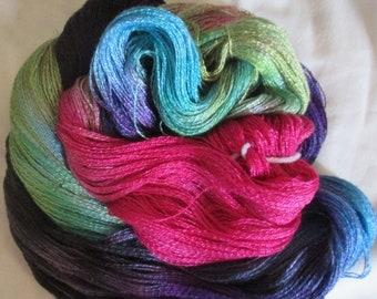 Hand dyed Tencel Yarn - 900 yds. Lace Wt. Tencel Yarn  SOYBEAN