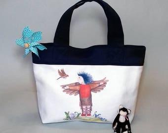 Kids Handbag, Carrier Bag or Toy Bag - Michaela & Robbie the Robin