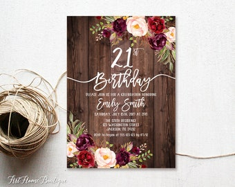 21st invitations Etsy
