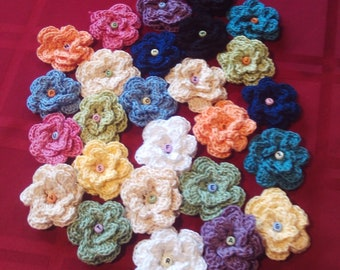 Set of 26,crocheted, flowers,thread.alphabet,decoration,rewards,school,teachers,classroom,children,gifts,appliques,clothing,beads