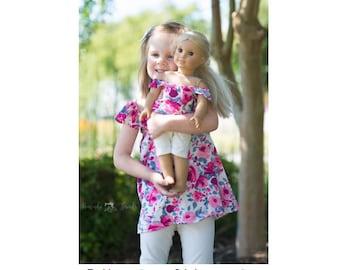 "DOLLY Daphne Top, Dress & Maxi 14"" 15"" 18"" PDF Sewing Pattern"