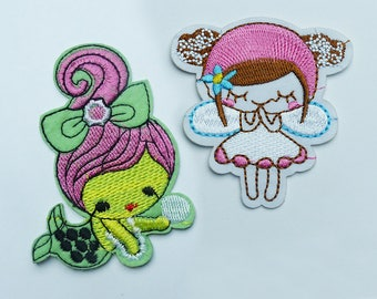 fusible patch, badge * Mermaid or fairy * 8.2 6,9 cm
