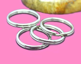 Double 16mm silver color rings