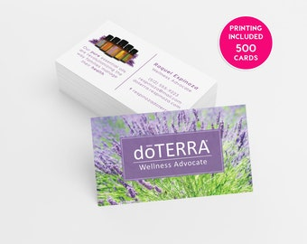 Doterra business cards etsy doterra lavender business card design 500 business cards printed template personalized calling card essential oils consultant cheaphphosting Choice Image