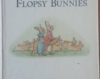 The tale of Peter Rabbit - The Tale of The Flopsy Bunnies - Beatrix Potter - Vintage Hardcover Classic Children's Books - Fairy Tale