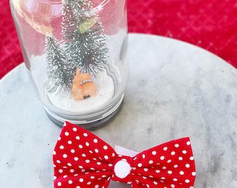 Christmas Spots Dog / Cat Bowtie
