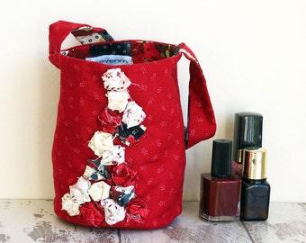 Red Small Handbag | Flower Girl Bag | Party Favour Bag | Girls bag