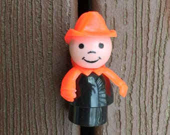 Vintage Fisher-Price Little People Fireman with Red Hat Helmet