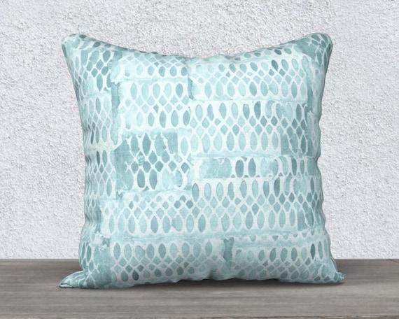 Aqua Pillow Case in Velveteen