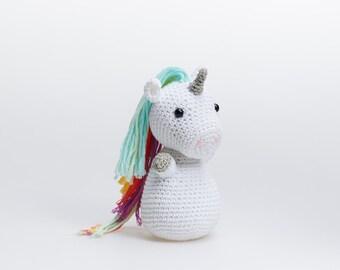 Unicorn Amigurumi, Amigurumi Unicorn, Unicorn Plush, Crochet Unicorn, Unicorn Stuffed Toy, Unicorn Stuffed Animal