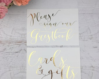 Wedding Sign Set - Cards and Gifts - Cards & Gifts - Guestbook Sign - Wedding Guestbook Sign - Wedding Gift Table Sign - Wedding Guestbook