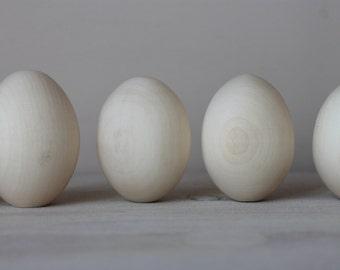 "10 Wooden eggs 2.8"" (7 cm)"