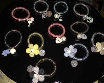 Hair ties with charms! Ties that do not tangle on your hair or brake your hair!