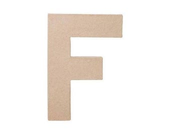 8 INCH Paper Mache Letter F - Cardboard Letters - Craft Supplies