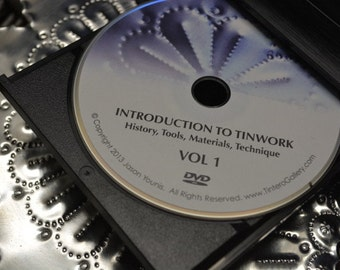 DVD: Introduction To Tinwork Volume 1, History, Tools, Materials, Technique Artisit Jason Younis y Delgado www.newmexicotinwork.com
