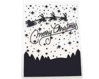 card with embossed embossed merry christmas scrapbooking