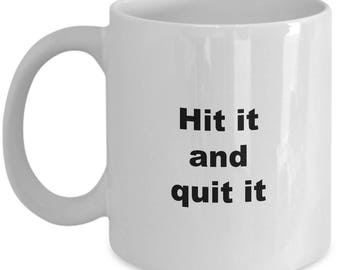 Ping Pong Mug - Table Tennis Coffee Cup Gift for Pingpong Lovers - Hit It and Quit It