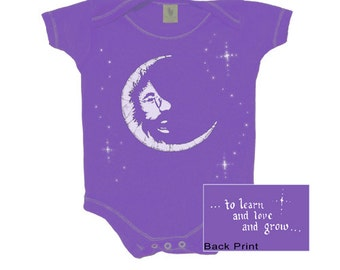 Jerry Garcia in the Moon baby snap up bodysuit/ infant/ creeper/romper