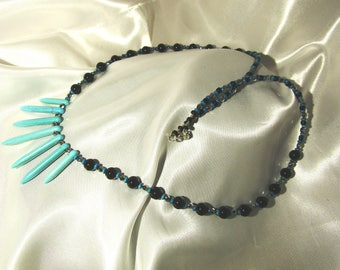 Long Turquoise spear Necklace