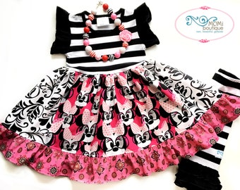 Disney Minnie Mouse dress Momi boutique custom dress