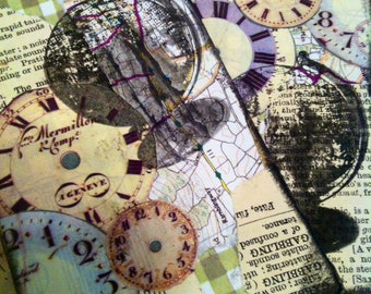 2 junk journal envelopes, mixed media , altered coin envelope , collage , journal supply