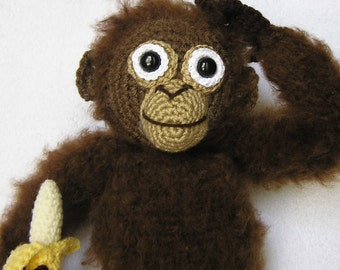 PDF Crochet Pattern BABY ORANGUTAN (English only)