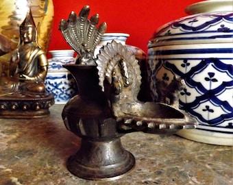 Traditional sukunda oil lamp nepalese old early twentieth century
