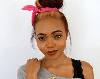 Bun Wire Wrap Hot Pink Flex Headband Messy Bun Wrap PonyTail Braid Ins for Hair - Choose YourColor
