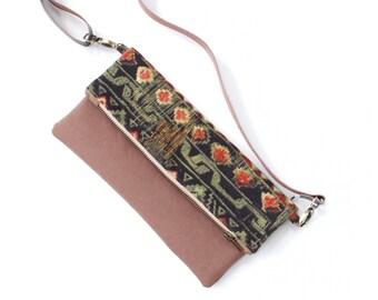 2 in 1 stylist Handbag, Fold Over Clutch, Slingbag, Crossover body bag, Evening Clutch