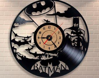 Batman art vinyl wall ewcord clock