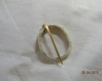Brass and Antler Annular Brooch