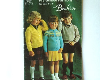 Patons Baldwins Beehive 110 Pre-School Children's Fashions  Sizes 1 - 6 Book Booklet