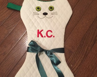 Kitty cat stocking