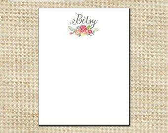 Gift Ideas for Mom, Personalized Notepad, note pad, note sheets, custom notepad with modern design